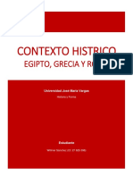 Contexto Historico Arquitectonico. Egipto, Grecia y Roma.
