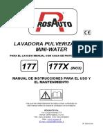 Manual Lavadora Al Agua 177_177X