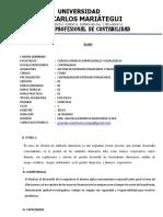 Silabo de GESTION DE ENTIDADES FINANCIERAS Y FINANZAS (E)
