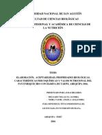 ELABORACIÓN, ACEPTABILIDAD, PROPIEDADES REOLÓGICAS, HARINA DE TARWI