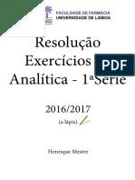 Resolução Exercícios da 1ª Série de Analítica.pdf