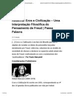 Eros e Civilização – Uma Interpretação Filosófica do Pensamento de Freud | Passa Palavra