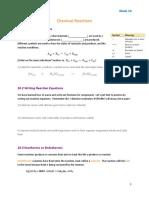 10  chemical reactions handout