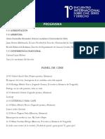 Programa Cine y Derecho Santiago Universidad de Chile 2019