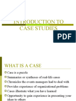 Introduction to Case Studies