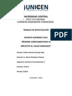 Investigación Del d.s. 21531 Rc-iva
