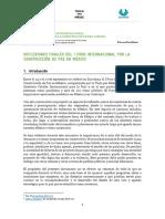 Reflexiones Foro Internacional por la Construccion de Paz, ICIP Serapaz