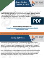 Global Cellulose Esters Market