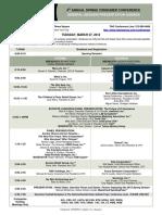 TAG Consumer Conference March2012 Agenda