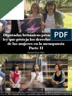Mariana Flores Melo - Diputadas Británicas Promueven Una Ley Que Proteja Los Derechos Laborales de Las Mujeres en La Menopausia, Parte II