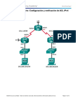 7.2.2.6 Lab - Configuración y Verificación de ACL IPv4
