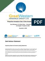 Great Western Minerals Dec09