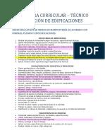 Estructura Curricular Construcción de Edificaciones. SENA