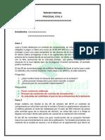 Tercer Parcial Procesal Civil II UPC SABANAS DERECHO COLOMBIA