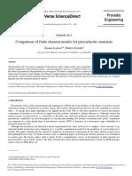 Comparison of finite element models for piezoelectric materials