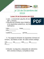 Tareas Del 16 - 18 - Diciembre - 2019