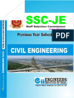 SSC JE Civil Previous Year Solved Papers