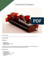 recette Relais Desserts _ Bûche au chocolat d'Annecy