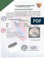 Certificado de Punto Geodésico Montesierpe