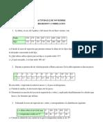 Actividad. Estadistica Descriptiva Regresion y correlacion