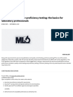 CLIA Requirements for Proficiency Testing