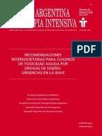 RECOMENDACIONES INTERSOCIETARIAS PARA CUADROS DE TOXICIDAD AGUDA POR DROGAS DE DISEÑO. URGENCIAS EN LA RAVE
