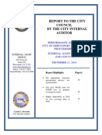 Final Report- Audit of City of Shreveport Insurance Procurement