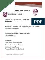 Informe de investigación de campo, Apertura de negocios.docx