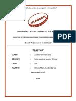 Auditoria Financiera - Practica de Auditoria Financiera