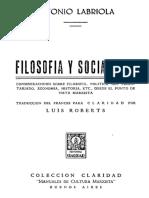 Filosofía y Socialismo