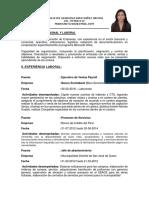 Madeleine Santivañez Orconi - Curriculum Vitae 1