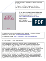 The Journal of Legal History Volume 26 issue 1 2005 [doi 10.1080%2F01440360500034651] Langbein, John H. -- Response.pdf