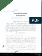 Habeas Data Jurisprudencia en Ecuador HD001-14-PJO-CC
