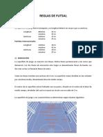 Reglas de Futsal