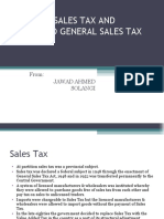 General Sales Tax and Reformed General Sales Tax