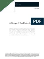 AQR Arbitrage A Brief Introduction