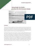 Avoiding Single Use Plastic - Packaging Alternatives for EM Consumer Goods (October 2018)