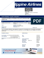 Electronic Ticket Receipt PASION