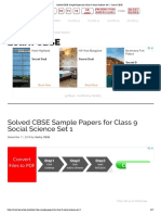 SST1-Solved CBSE Sample Papers for Class 9 Social Science Set 1 - Learn CBSE