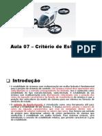 Aula 7 - Critério de Estabilidade.pptx