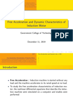 Free acceleration of Induction machine