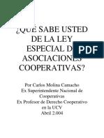 Ley Especial de Cooperativas