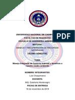 Manejo Integrado de Cuencas Hidrograficas (Luis Chuquimarca)