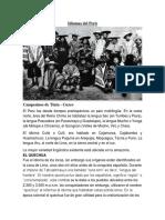 Idiomas del Perú