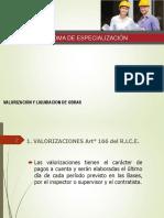 Valorización y Liquidacion de Obra
