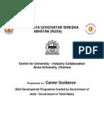 RUSA - Programme on Career Guidance - Government Sponsored Skill Development Programme (1)