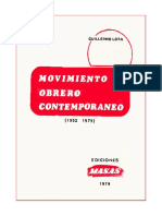 El movimiento Obrero Contemporaneo Guillermo Lora