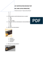 NIMS CNC Operators Supplement-Pretest Study Guide -3