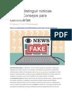 Cómo distinguir noticias falsas