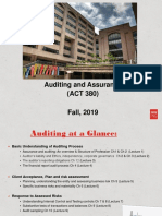 1. Lecture One -  Assurance & Auditing - An Overview and Structure of the profession
